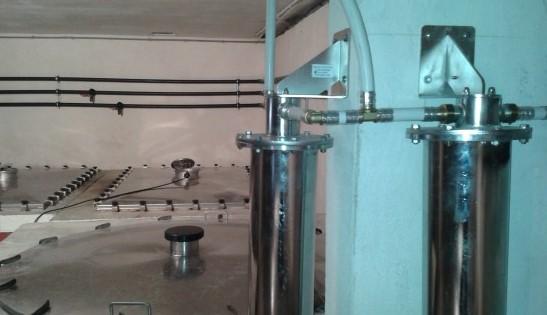 Installation système de cryofiltration en cave pour élimination tartre dans le 13